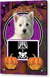 I'm Just A Lil' Spooky Westie Acrylic Print by Renae Laughner