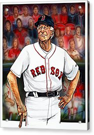 Johnny Pesky  Acrylic Print by Dave Olsen