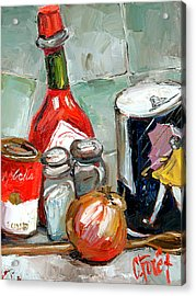 Kitchen Counter Acrylic Print by Carole Foret