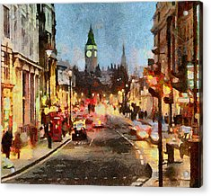 London Scene Acrylic Print by Anthony Caruso