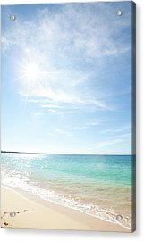 Maui Beach Acrylic Print by Monica and Michael Sweet