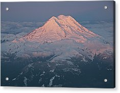 Mount Rainier, Wa Acrylic Print by Professional geographer who loves to capture landscapes