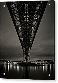Night View Of Forth Road Bridge Acrylic Print by Mark Voce Photography