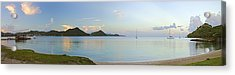 Panoramic1- St Lucia Acrylic Print by Chester Williams