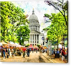 Saturday In Madison Acrylic Print by Anthony Caruso