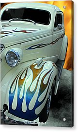 Smokin' Hot - 1938 Chevy Coupe Acrylic Print by Betty Northcutt