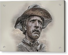 Son Of The Confederacy Portrait Acrylic Print by Randy Steele