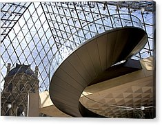 Stairs In Louvre Museum. Paris.  Acrylic Print by Bernard Jaubert
