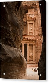 The Famous Treasury With A Camel Acrylic Print by Taylor S. Kennedy