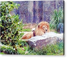 The King At Rest Acrylic Print by Methune Hively