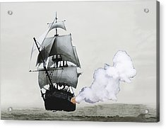 The Old Pirate Acrylic Print by Tyler Martin
