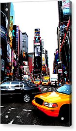 Times Square Vibrants  Acrylic Print by Anthony Jensen