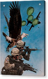 Tip Of The Spear Acrylic Print by Dan  Nance