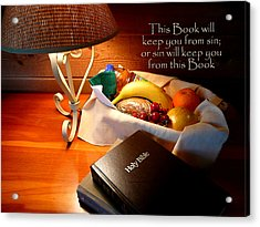 Word Of God Acrylic Print by Cindy Wright