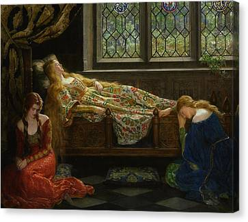 The Sleeping Beauty Canvas Print by John Collier