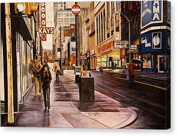 Fifth Avenue In The 80s Canvas Print by James Guentner