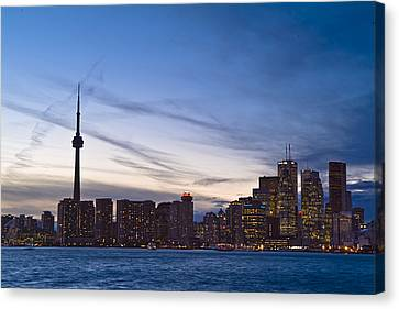 View From Islands Of Skyline Toronto Canvas Print by Richard Nowitz