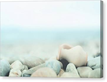 Amphora Lies On Pebbles Canvas Print by Alexandre Fundone