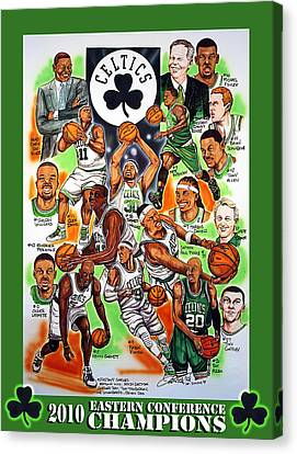 Boston Celtics Eastern Conference Champions Canvas Print by Dave Olsen
