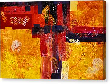 Byzantine Times An Abstract Painting Of Geometric Shapes Canvas Print by Phil Albone