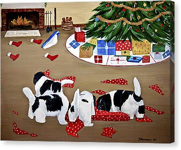 Christmas Mischief Canvas Print by Sharon Nummer