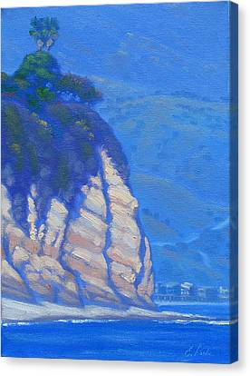 Cliffs At Point Dume Canvas Print by Elena Roche