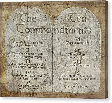 Commandments Canvas Print by Cindy Wright