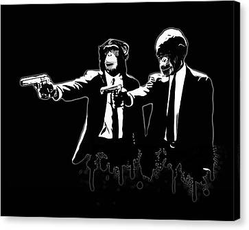 Divine Monkey Intervention - Pulp Fiction Canvas Print by Nicklas Gustafsson