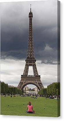 Eiffel Tower. Paris Canvas Print by Bernard Jaubert