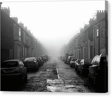 Foggy Terrace Canvas Print by Paul Downing