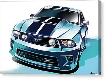 Ford Mustang 5.0 Canvas Print by Uli Gonzalez