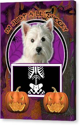 I'm Just A Lil' Spooky Westie Canvas Print by Renae Laughner