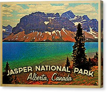 Jasper National Park Canada Canvas Print by Flo Karp