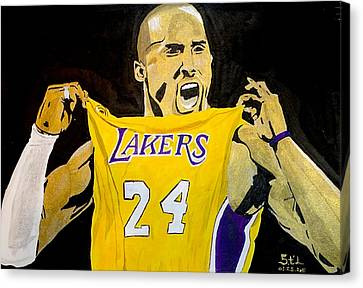 Kobe Bryant Canvas Print by Estelle BRETON-MAYA