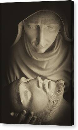 Mary And Her Son Canvas Print by Dawna  Moore Photography