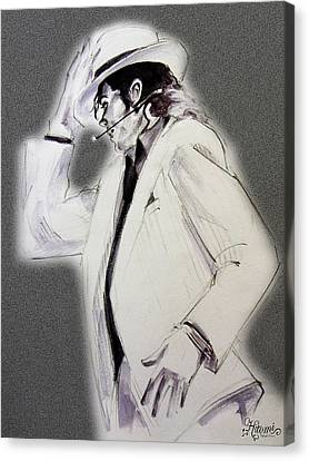 Michael Jackson - Smooth Criminal In Tii Canvas Print by Hitomi Osanai