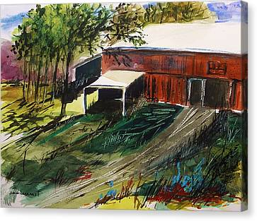Old Horse Stable Canvas Print by John  Williams