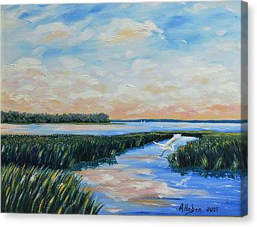 On The May River Canvas Print by Stanton Allaben