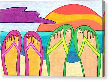 Our Summer Vacation Canvas Print by Geree McDermott