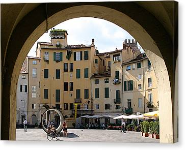 Piazza Antifeatro Lucca Canvas Print by Mathew Lodge