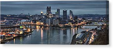 Pittsburgh Skyline 2 Canvas Print by Wade Aiken