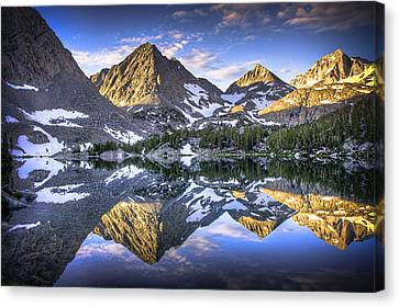 Reflection Of Mountain In Lake Canvas Print by RMB Images / Photography by Robert Bowman