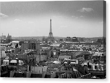 Roof Of Paris. France Canvas Print by Bernard Jaubert