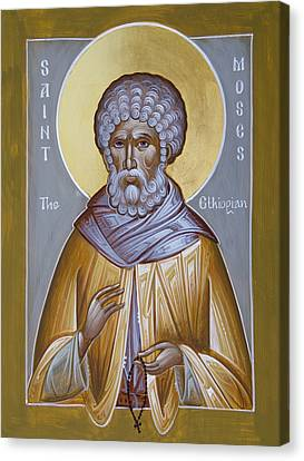 St Moses The Ethiopian Canvas Print by Julia Bridget Hayes
