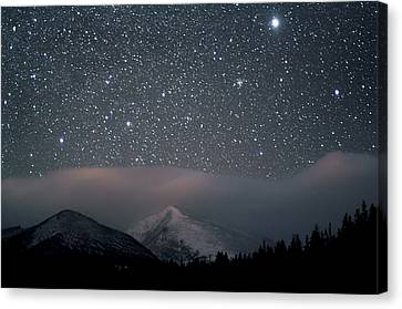 Stars Over Rocky Mountain National Park Canvas Print by Pat Gaines