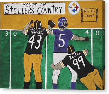 Steelers Country Canvas Print by Jeffrey Koss