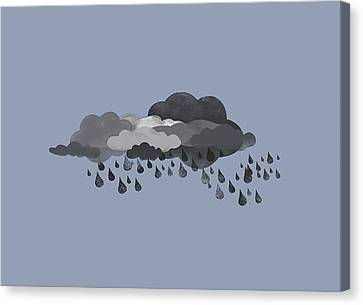 Storm Clouds And Rain Canvas Print by Jutta Kuss