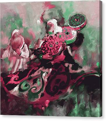 Sufi Whirling 450 Iv Canvas Print by Mawra Tahreem