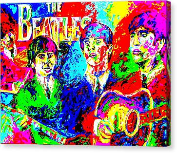 The Beatles Canvas Print by Mike OBrien