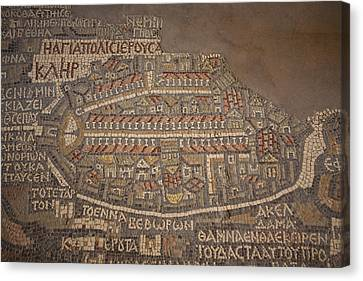 The Earliest Known Map Of The City Canvas Print by Taylor S. Kennedy
